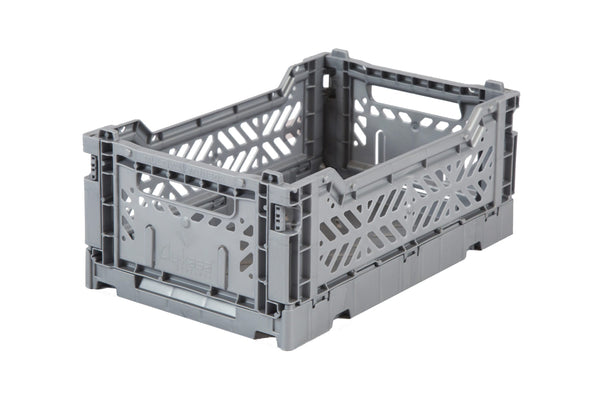 Folding Crate Large in Grey