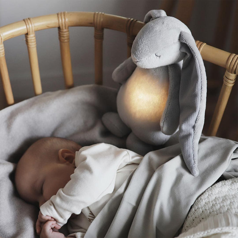 Moonie Humming Friend Baby Nightlight - Silver