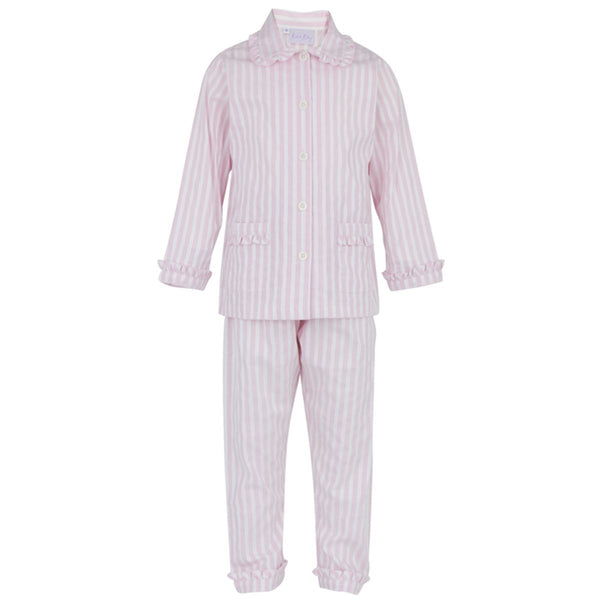 Rachel Riley Striped Frill Pyjamas