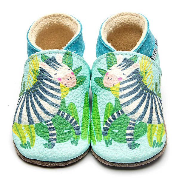 Zebra Green Baby Shoes