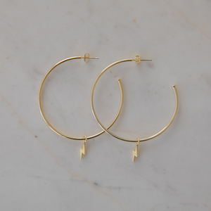 Sophie | Flashy Hoops | Gold