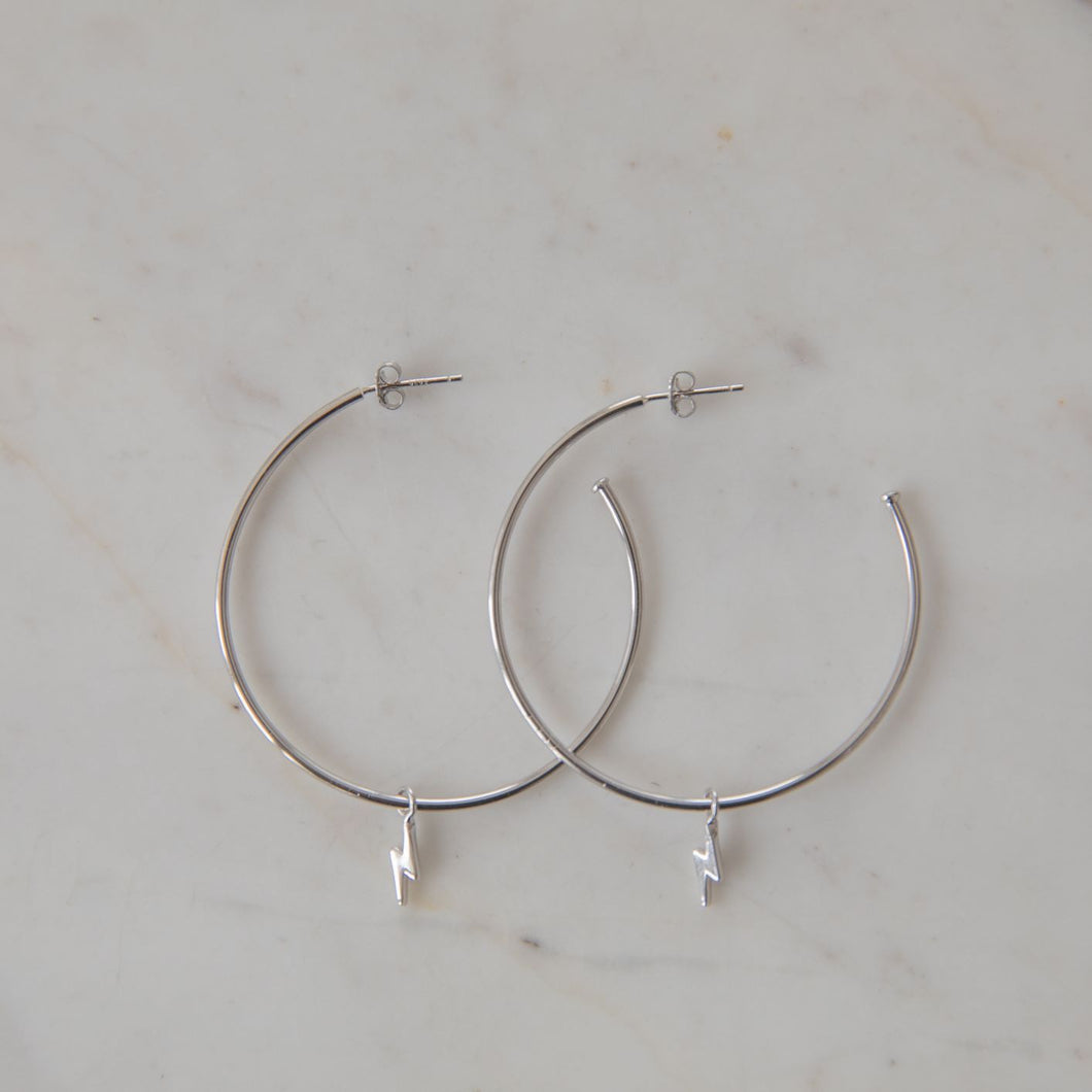 Sophie | Flashy Hoops | Silver