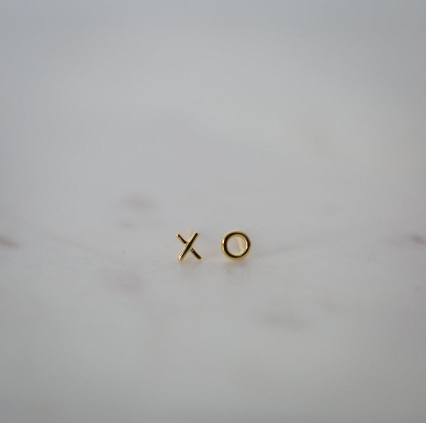 Sophie | Ex Oh Studs | Gold Earrings