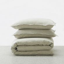 Load image into Gallery viewer, George Street Linen | Belgian Linen washed Duvet cover set | Natural
