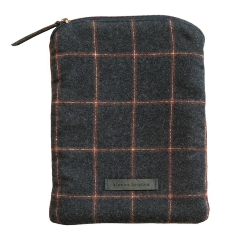 Bianca Lorenne | Graphite Check Tablet Cover