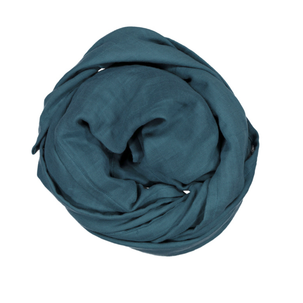 Burrow & Be | Muslin wrap | Teal