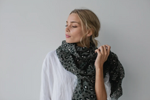 Load image into Gallery viewer, Sophie | Leopard Maxi Scarf Storm