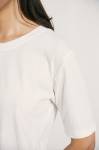 Marle Simple Tee | Ivory