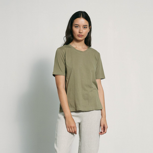 Marle Simple Tee | Khaki