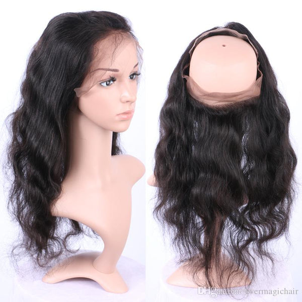 100% VIRGIN MALAYSIAN 360 LACE FRONTAL