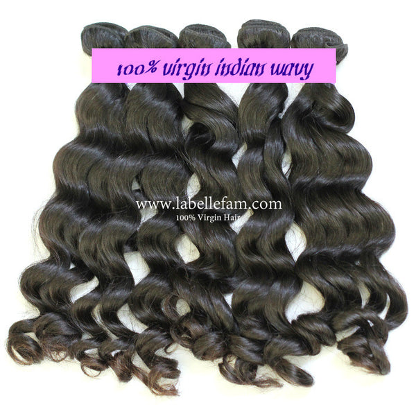 100% VIRGIN INDIAN NATURAL WAVY