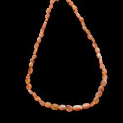CrystalAge Carnelian Gemstone Necklace with Clasp - 17 Inches
