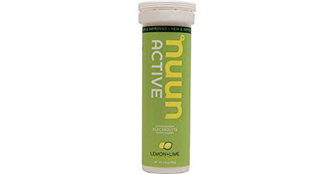 Nunn Effervescent Electrolyte Hydration Supplement Lemon + Lime (8 1.8 oz. Tubes)