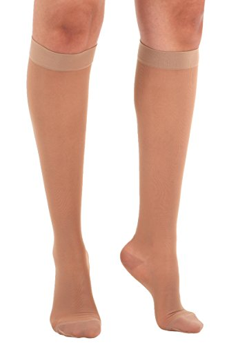 Made In The Usa   Absolute Support 2 Xl Wide Calf Compression Stockings  Sheer Knee High, 15 20 Mm Hg