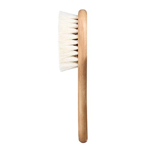 Infant Care Comb,Soft Natural Goat Hair Baby Infant Head Massage Grooming Comb with Wooden Handle