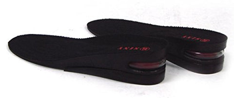 SINY 2-Layer (5cm) Height Increase Taller Shoe Insoles Pad Air Cushion for Men Black Heels