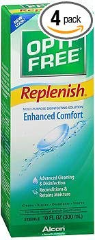 Opti-Free Replenish Multi-Purpose Disinfecting Solution - 10 oz, Pack of 4