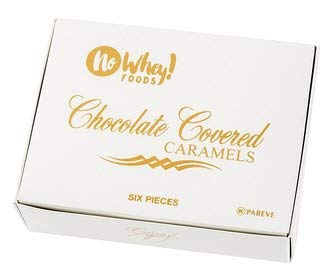 No Whey Foods - Chocolate Covered Caramels (6 Pieces) - Allergy Friendly And Vegan Chocolate Candy - Dairy Free, Nut Free, Peanut Free, Soy Free, Gluten Free