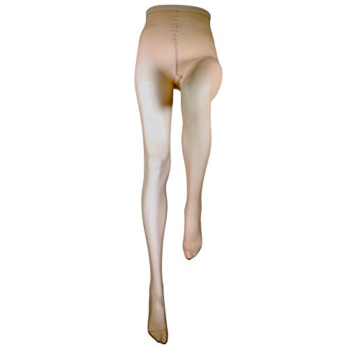 Truform Sheer Compression Pantyhose, 15-20 mmHg, Women's Shaping Tights, 20 Denier, Nude, X-Tall