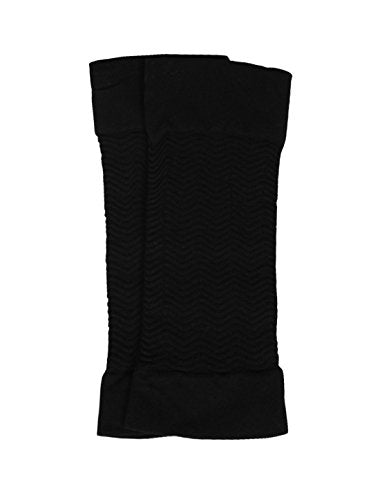 uxcell Women Zig Zag Design Stretchy Compression Arm Sleeves Black