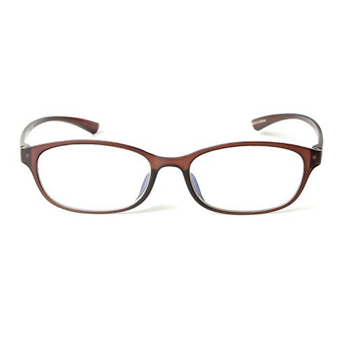 MIDI Colors Blue Light Blocking Oval Reading Glasses for Women (M-210) Blue Light Filter Readers 1.0 1.5 2.0 2.5 3.0 (+1.50, Matte Brown)(m210c4150)