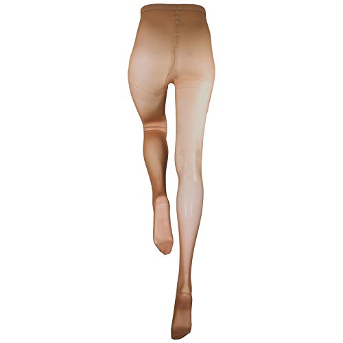 Truform Sheer Compression Pantyhose, 15-20 mmHg, Women's Shaping Tights, 20 Denier, Beige, Tall