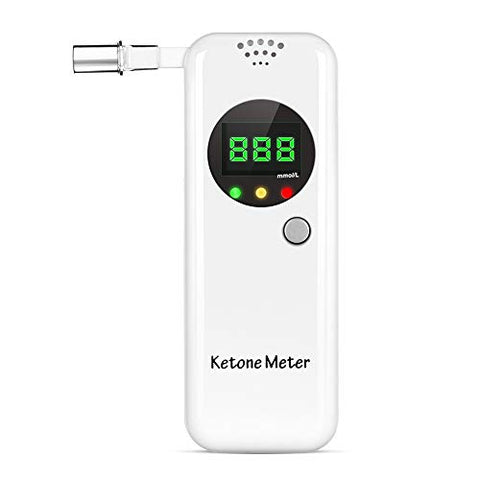 Ketone Breath Analyzer Breath Meter with 10pc Replaceable Mouthpieces for Ketosis Health