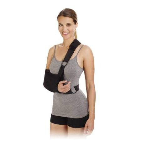 Shoulder Immobilizer Sling Cotton Poly Right/Left, Large 9x18, 1 ea