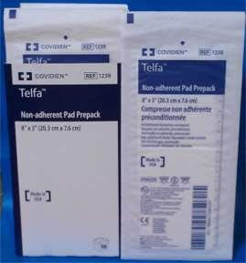 "TELFA ""Ouchless"" Nonadherent Dressings - 3 x 8"" - - Case of 600"