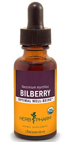 Herb Pharm Certified Organic Bilberry Liquid Extract for Eye and Vision Support - 1 Ounce