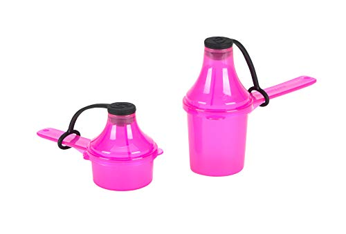 The Scoopie  (2 Count, Pink, 15cc 30cc) Portable Scoop with Attached Funnel Supplement Dispenser | Pre Workout Container - Multi Pack