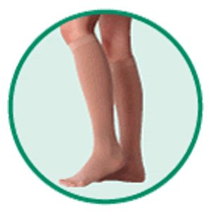 Varin Soft Below-Knee Stocking, Beige, Size 4, Large, Compression 40-50 mmHg, 1 Pair, Model 3513