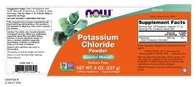 Now Foods: Potassium Chloride Powder Table Salt Substitute, 8 oz (2 pack)