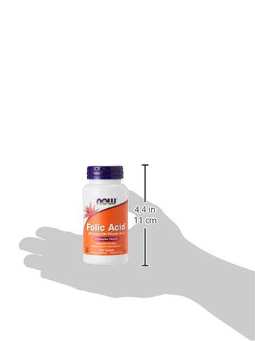 Now Foods, Folic Acid 800mg, 250 Capsules
