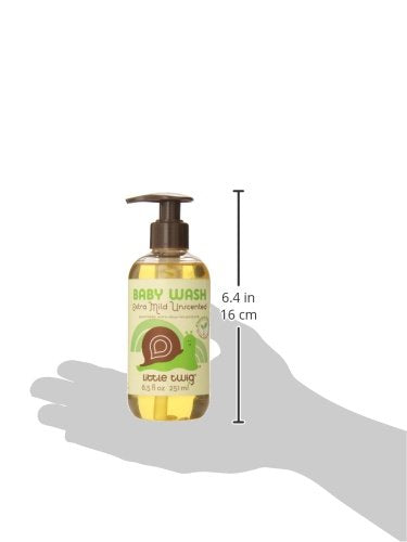Little Twig All Natural, Hypoallergenic, Extra Mild Baby Wash, Unscented, 8.5 Fluid Ounce