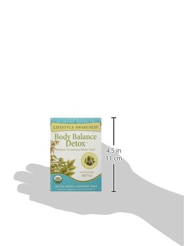 Lifestyle Awareness Body Balance Detox Tea with Nourishing Nettle, Caffeine Free, 20 Tea Bags, Pack of 6