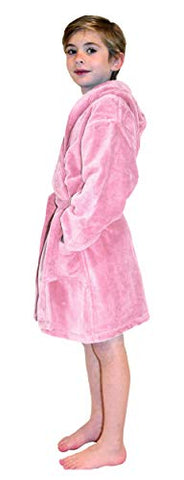 100% Cotton Absorbent Terry Velour Kids Hooded Bathrobe Used in 5 Star Hotels Pink