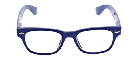 Peepers by PeeperSpecs Clark Square Reading Glasses, Black - Focus Blue Light Filtering Lenses, 49 mm + 1.25