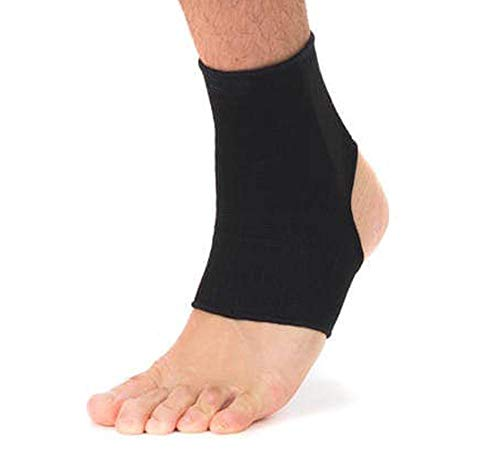 Elastic Ankle Sleeve (1 Pair) - Black, Medium