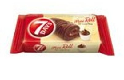 7 Days From Greece Mini Roll Cake Bars with Cocoa Cream - 25 Packs X 30g (1.0 Oz Per Pack)