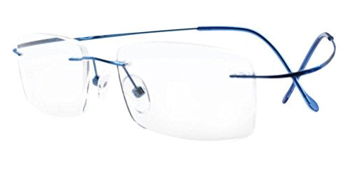 Eyekepper Titanium Rimless Eyeglasses Women Blue
