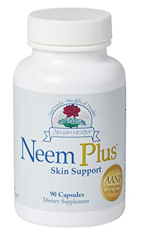 Ayush Herbs Neem Plus Herbal Supplement, 90 Capsules