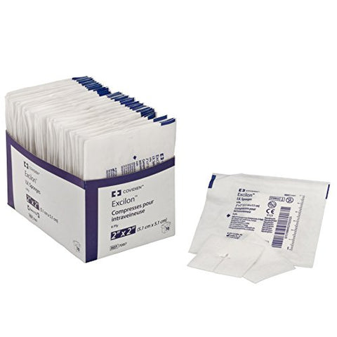 Covidien 7087 Excilon I.V. Sponge, Sterile 2's in Peel-Back Package, 2
