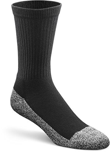 Dr. Comfort Diabetic Extra Roomy Socks, Black, Large (1 Pair)