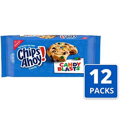 Chips Ahoy! Candy Blasts Cookies, 12.4 Ounce (Pack of 12)