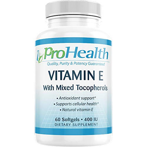 ProHealth Vitamin E with Mixed Tocopherols (400 IU, 60 Medium softgels)
