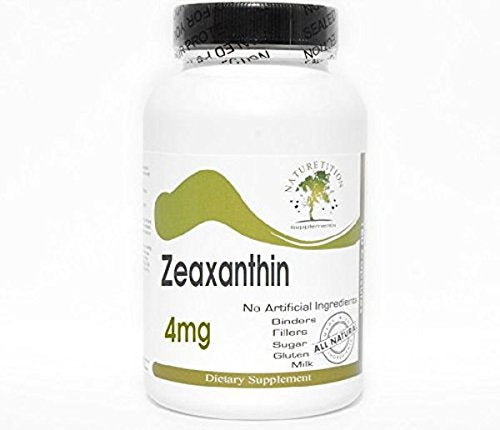 Zeaxanthin 4mg ~ 100 Capsules - No Additives ~ Naturetition Supplements