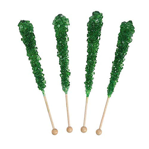 Green Rock Candy Pops - 12 Pieces