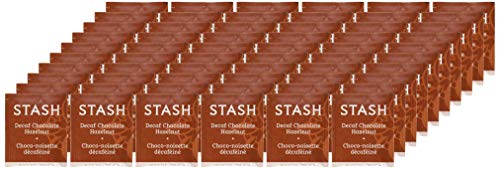 Stash Tea Decaf Chocolate Hazelnut Black Tea 100 Count Box of Tea Bags in Foil