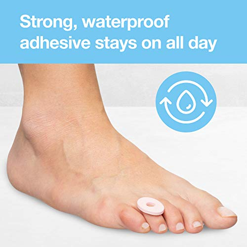 ZenToes Thick Corn Cushions Toe Pads - Hypoallergenic and Waterproof (36 Count)